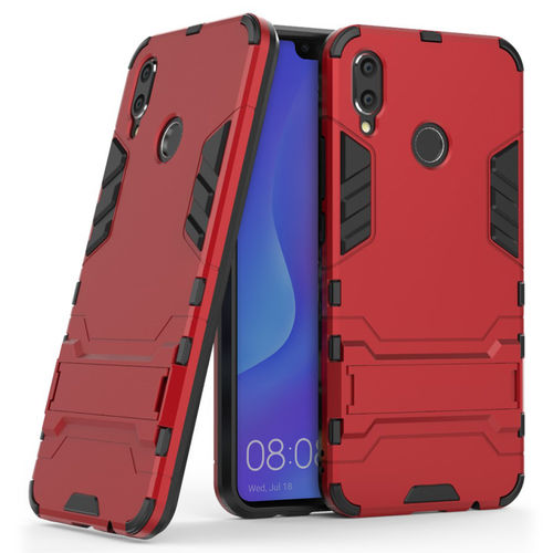 Slim Armour Tough Shockproof Case & Stand for Huawei Nova 3i - Red